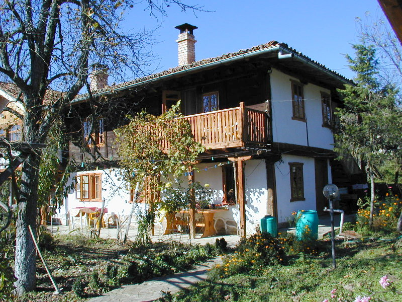 Typical Bulgarian National Revival architecture in Elena